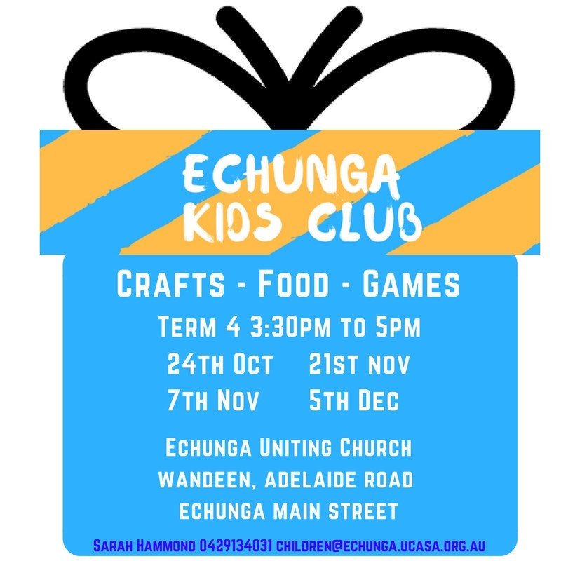 kids club term 4 2017